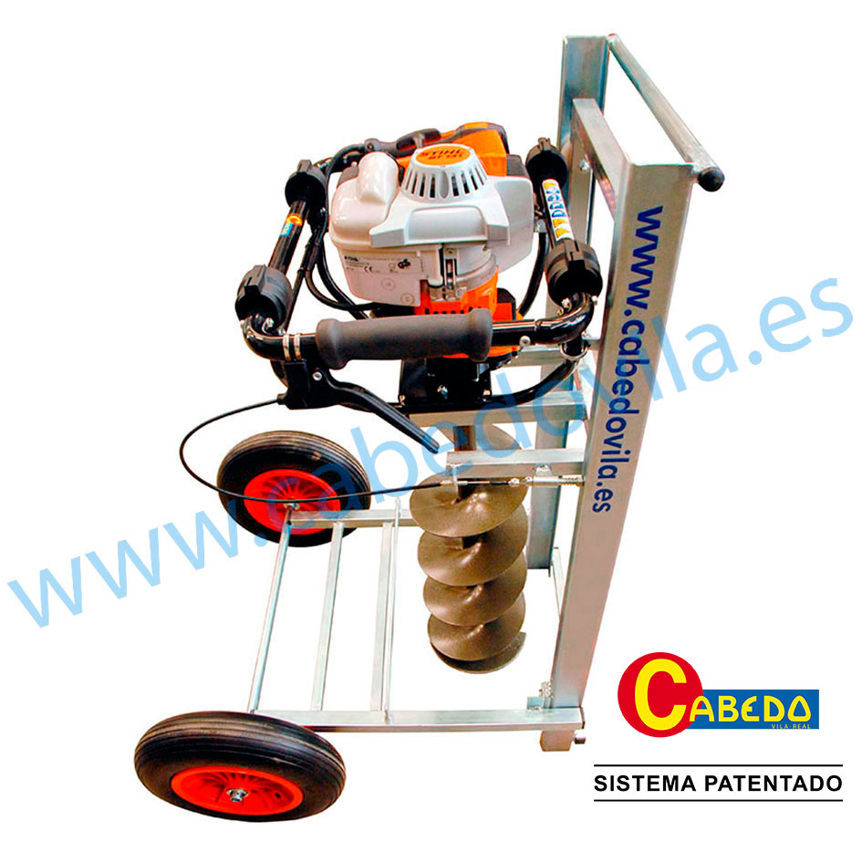 Carro adaptable con guía para la ahoyadora manual BT-131 Stihl